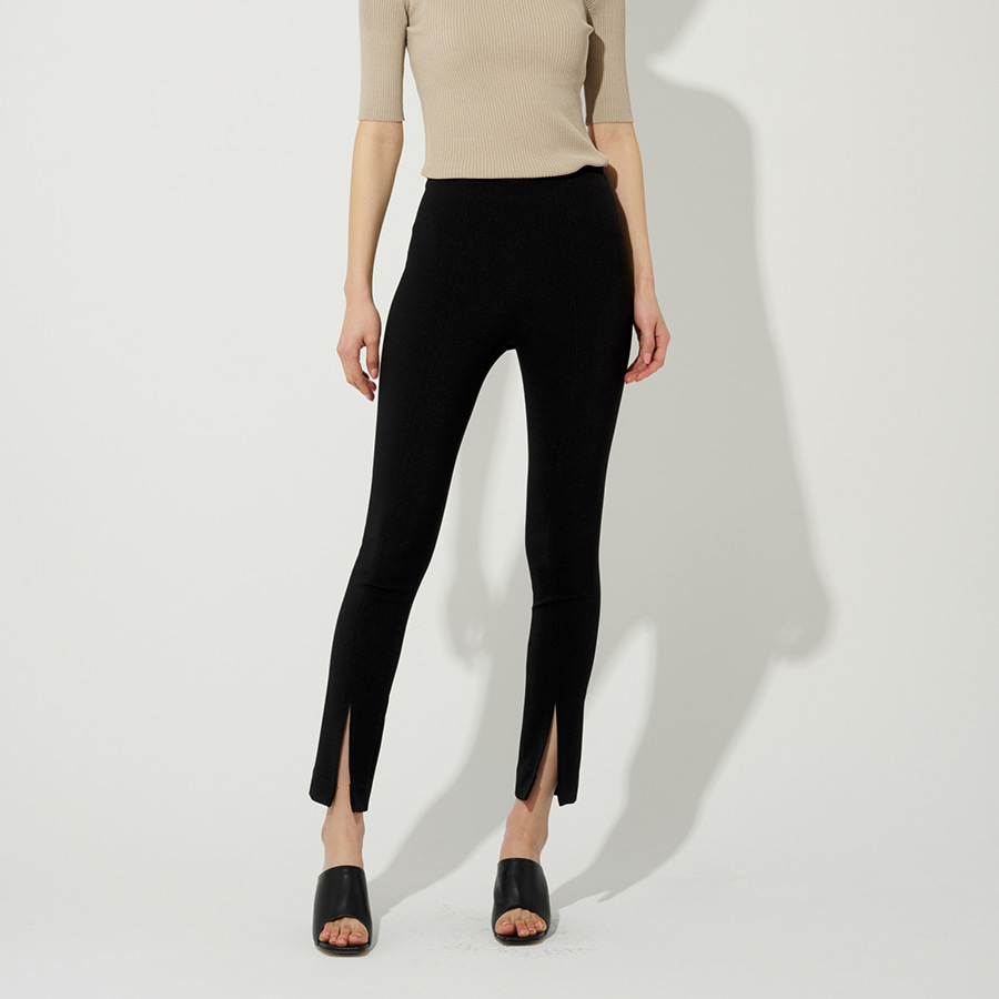 Package front slit legging trouser