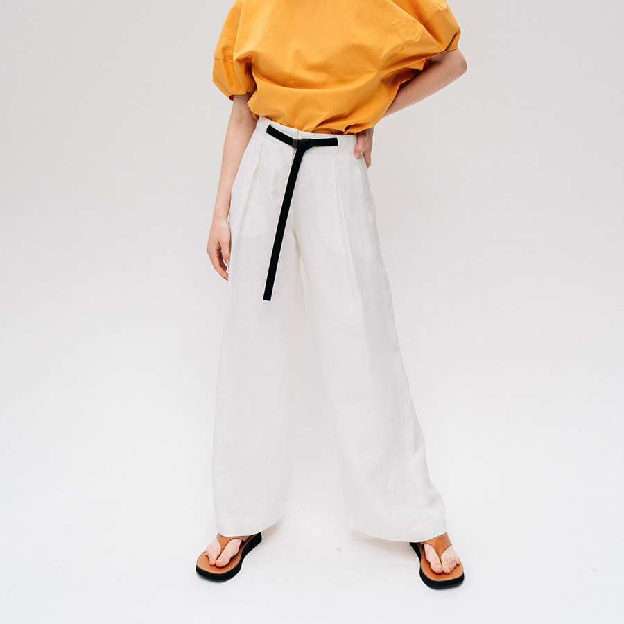 Risa linen belted trousers