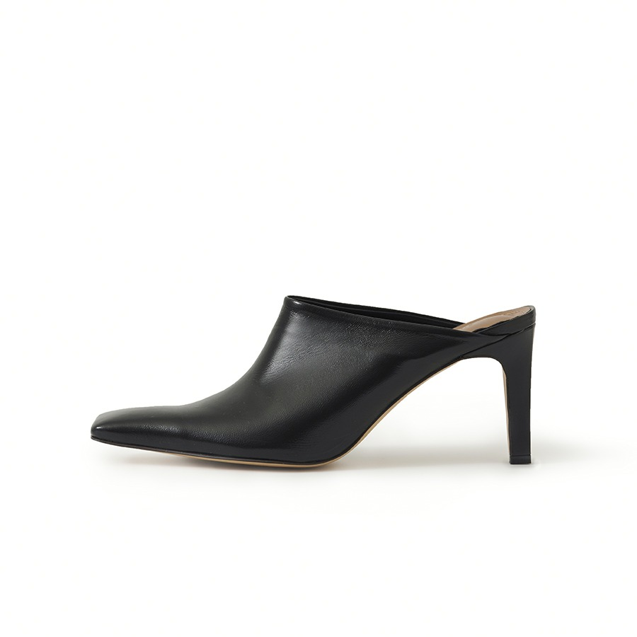 Almon leather mules