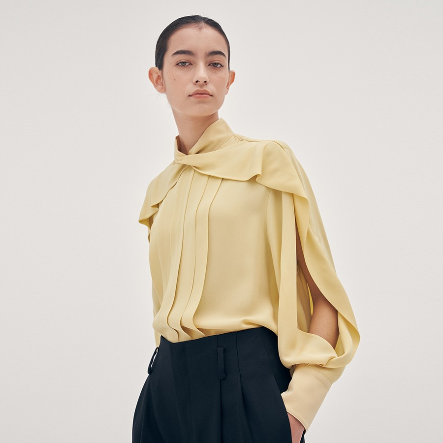 Helen pleated blouse