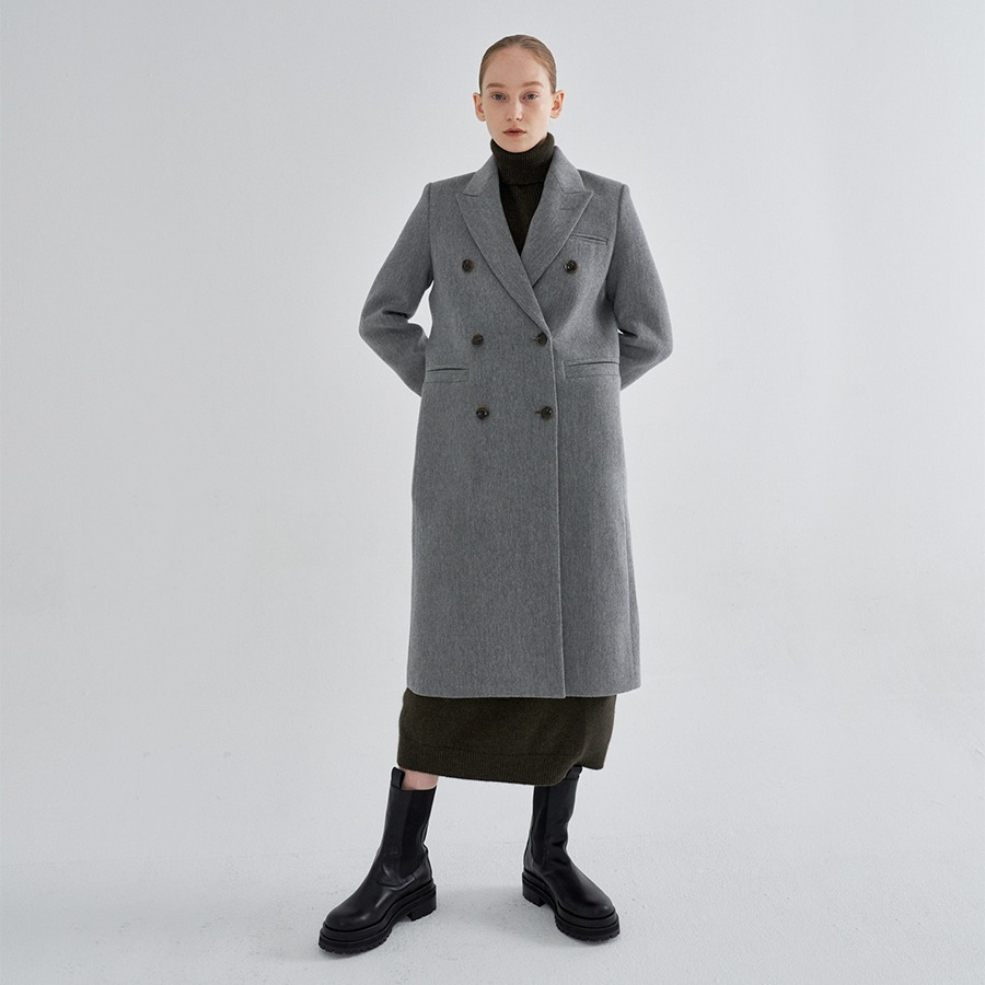 [20FW SEASON OFF] RAY double wool coat
