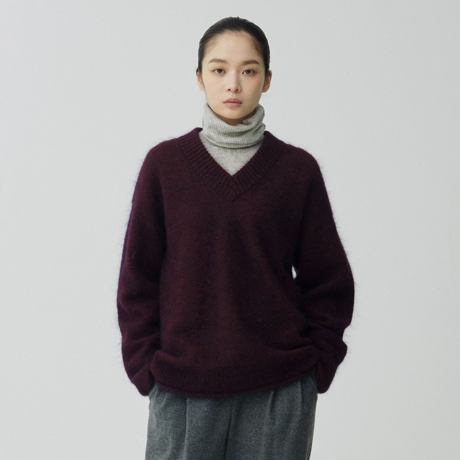 Berry berry V knit