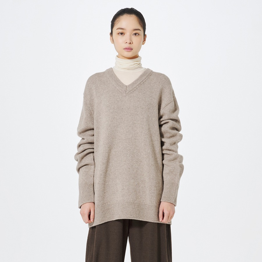 [ 20FW SEASON OFF]Back line V knit