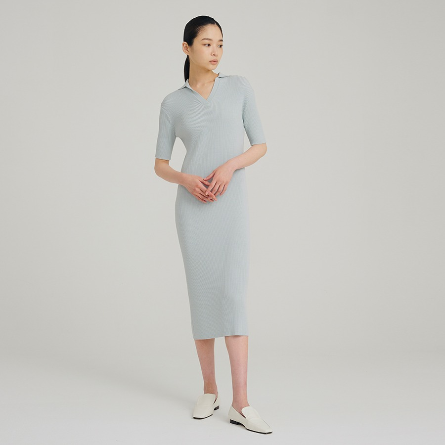 Cooling collar dress